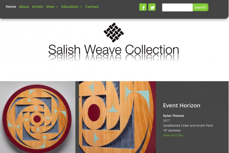 Wordpress Website Build: Salish Weave Collection