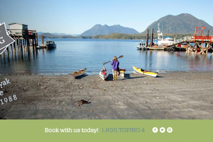 Wordpress build: Tofino Sea Kayaking